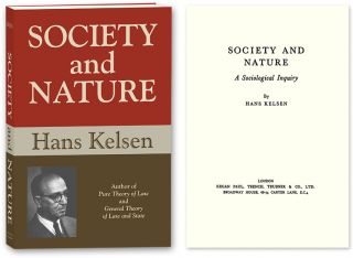 Society and Nature: A Sociological Inquiry. Hans Kelsen, PAPERBACK