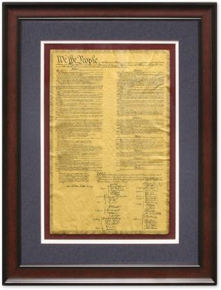 Framed and Glazed Facsimile of the United States Constitution. United States Constitution