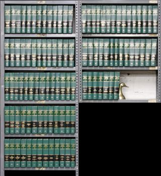 American Jurisprudence 2d. 20 linear feet Misc. vols. to 2008 supps. Thomson Reuters