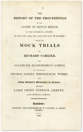 The Report of the Proceedings of the Court of King's Bench...