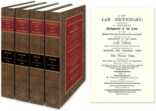 A New Law Dictionary; Comprehending A General Abridgment of the Law. William Marriott