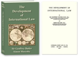 The Development of International Law. PAPERBACK. Sir Geoffrey Butler, Simon Maccoby