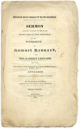 Wicked Men Ensnared by Themselves: A Sermon Preached, December 16. William Buell Sprague