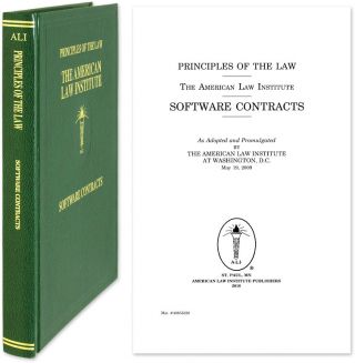 Principles of the Law of Software Contracts - Official Text. American Law Institute. Hillman,...