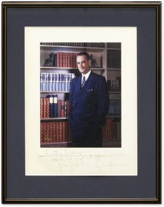 Photograph of Lyndon Johnson, Inscribed to Arthur Goldberg. Lyndon Johnson, Sup. Ct. Justice...