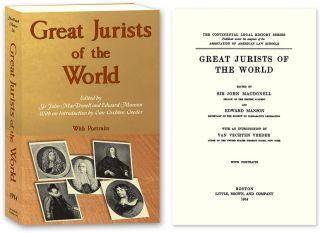 Great Jurists of the World. Sir John MacDonell, Edward Manson