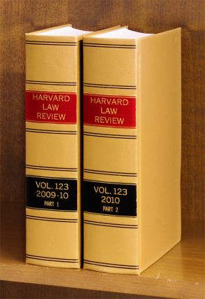 Harvard Law Review. Vol. 123 (2009-2010) Part 1-2, in 2 books. Harvard Law Review Association