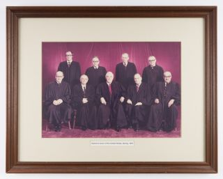 "9-1/2"" x 14"" Color Group Portrait of the Burger Court, Spring, 1976. United States Supreme Court"