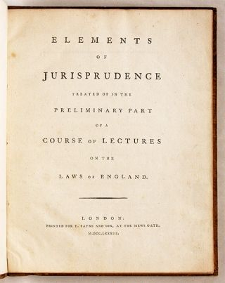 Elements of Jurisprudence, Treated of in the Preliminary Part of a...