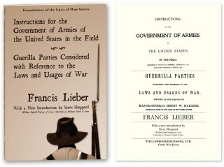 Instructions for the Government of Armies of the United States. Francis: Steve Sheppard Lieber, new Introduction.