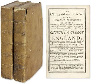 The Clergy-Man's Law: or, the Compleat Incumbent. Collected from. William Watson