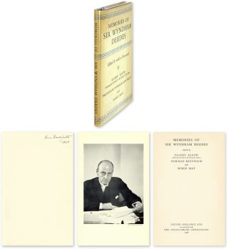 Memories of Sir Wyndham Deedes. Felix Frankfurter, Elihu Elath, Norman, Bentwich