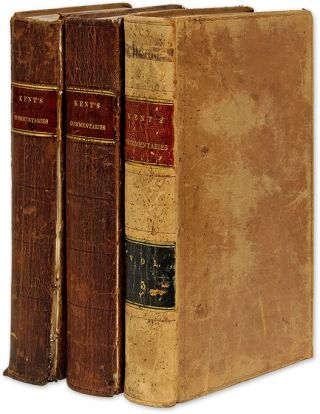 Commentaries on American Law, Second Editions, Vols I to III (3 books). James Kent