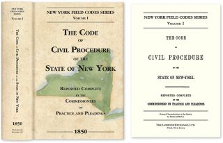 The Code of Civil Procedure of the State of New-York. David Dudley Field, Michael Weber, New Intro.