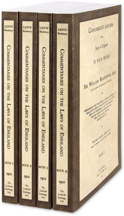 Commentaries on the Laws of England in Four Books, With Notes. Sir William Blackstone, William...