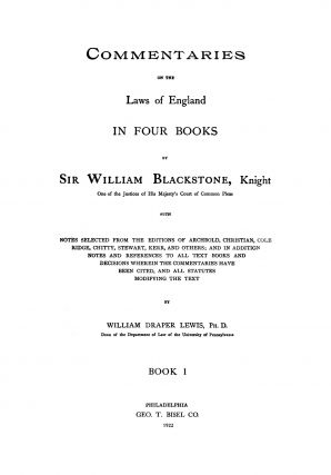 Commentaries on the Laws of England in Four Books, With Notes...