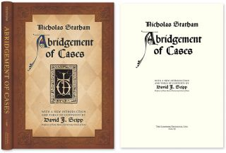 Statham's Abridgement [Abridgment] of Cases. Nicholas Statham, Richard Pynson, David Seipp
