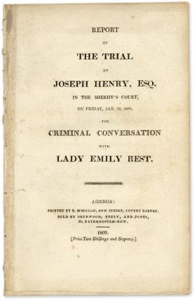 Report of the Trial of Joseph Henry, Esq, In the Sheriff's Court. Trial, Joseph Henry, Defendant