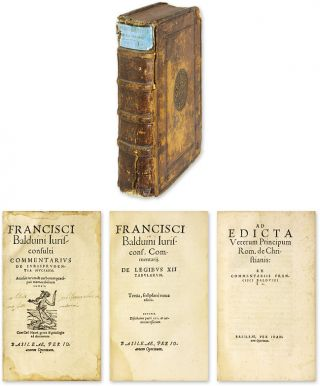 Commentarius de Iurisprudentia Muciana [Bound With Two Other Works]. Francois Baudouin.