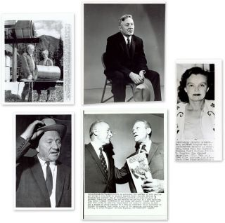 Five (5) Black-and-White Press Photographs of (Or Relating to) Douglas. William O. Douglas.