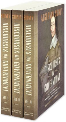 Discourses on Government. 1st American edition. 3 Vols. PAPERBACK. Algernon Sidney.