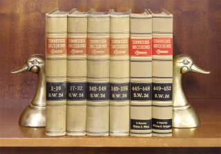 Tennessee Decisions, West's. SW 2d 1-999 & SW 3d 1-367, in 248 books. Thomson West