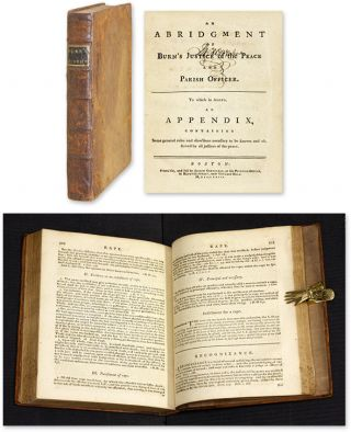 An Abridgment [Abridgement] of Burn's Justice of the Peace and Parish. Richard. Greenleaf Burn,...
