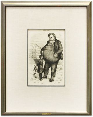 "Can the Law Reach Him?-The Dwarf and the Giant Thief. Thomas Nast, William M Tweed, ""Boss"""