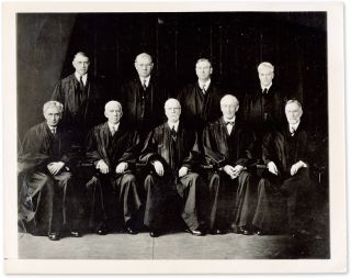 "7"" x 9"" Black-and-White Portrait Photograph of the Hughes Court. United States. Press Photo Supreme Court."
