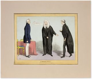 "A Broad Hint, 14"" x 11"" Hand-Colored Lithograph. London, 1829. John Doyle"