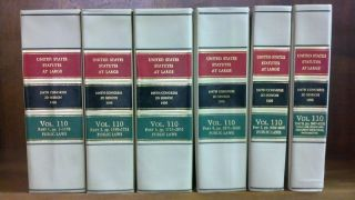 United States Statutes at Large Volume 110, in 6 books (1996