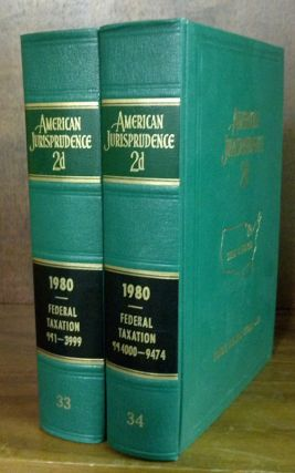 American Jurisprudence 2d. 1980 Federal Taxation Vols. 33-34 2 books. Thomson West