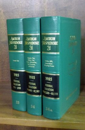 American Jurisprudence 2d. 1985 Federal Taxation Vols. 33-34A 3 books. Thomson West