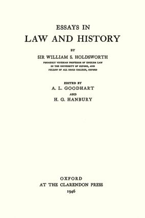 Essays in Law and History.