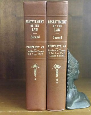 Restatement of the Law Property 2d Landlord and Tenant 2 Vols. American Law Institute