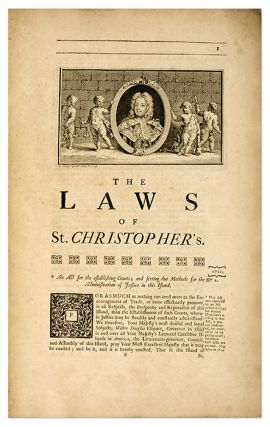 Acts of Assembly, Passed in the Island of St. Christopher; From 1711..
