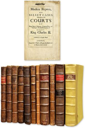 Modern Reports, Or Select Cases [12 Volumes in 11 Books, Complete]. Great Britain, Modern Reports.