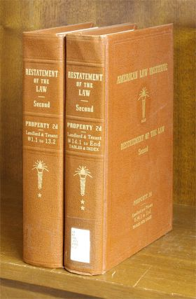 Restatement of the Law Property 2d Landlord & Tenant 2 Vols 2012 supps. American Law Institute