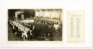 "12"" x 20"" Photograph of Darrow at Banquet Honoring Steffens [with]. Clarence Darrow, Lincoln..."