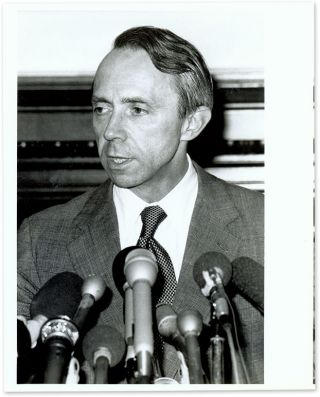 "8"" x 10"" Black-and-White Press Photograph of Justice Souter. David Souter."