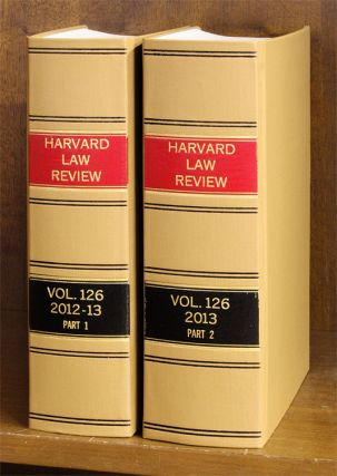 Harvard Law Review. Vol. 126 (2012-2013) Part 1-2, in 2 books