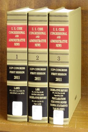 United States Code Congressional And Administrative News 2011 Pts 1-3. Thomson West