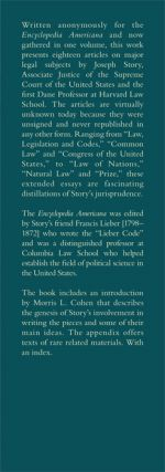 The Unsigned Essays of Supreme Court Justice Joseph Story. HARDCOVER