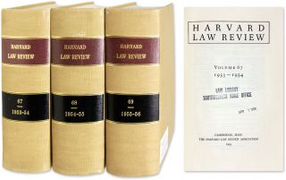 Harvard Law Review. Vols. 67 to 69 (1953-1956), 3 bound volumes. Harvard Law School