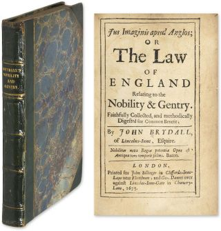 Jus Imaginis Apud Anglos; Or the Law of England Relating to the. John Brydall.