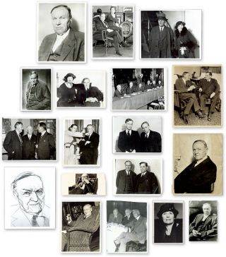 Eighteen (18) Black-And-White Press Photographs of Darrow. Clarence Darrow