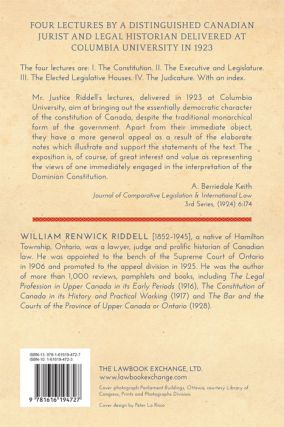 The Canadian Constitution in Form and in Fact