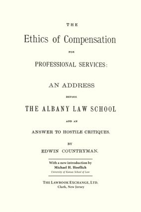 The Ethics of Compensation for Professional Services