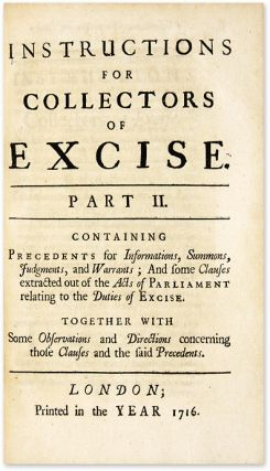 Instructions for Collectors of Excise In Prosecutions Before Justices