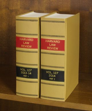 Harvard Law Review. Vol. 127 (2013-2014) Part 1-2, in 2 books.